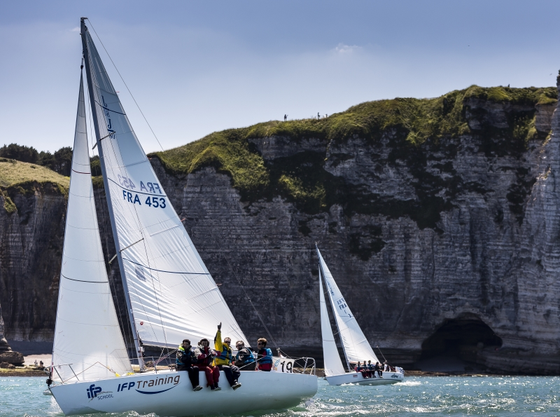Sailing trip on the Normandy coast