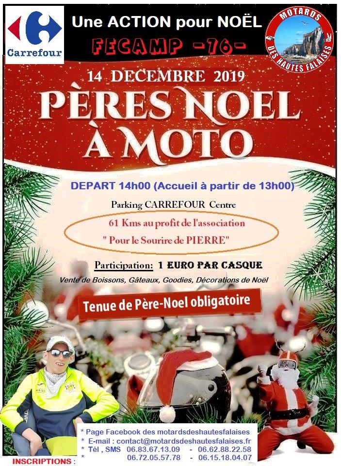la parade des pères Noël à moto