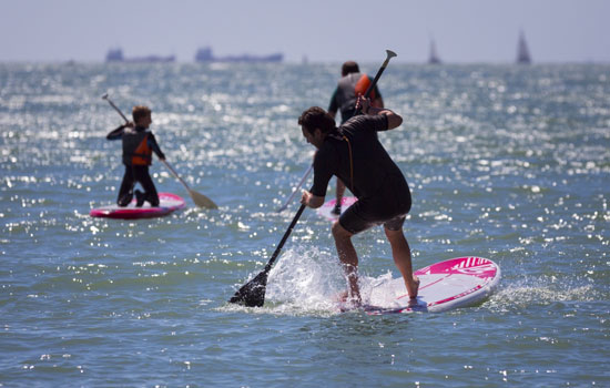 Stand up paddle boarding tour around Le Havre